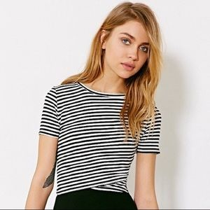 Urban Outfitters striped crop top